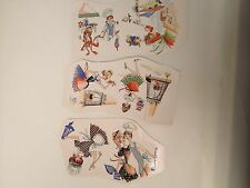 Ceramic decals Women in vintage aprons kitchen scenes lot of 36