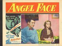 1953 MOVIE LOBBY CARD #4-1607 - ANGEL FACE - ROBERT MITCHUM