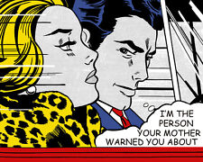 Roy Lichtenstein Style  I'm The Person Your Mother Canvas  16 x 20