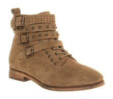 Bureau uk 3 (eu 36) abandon multi clous à lacets taupe en daim bottines en cuir