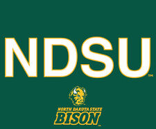 "NORTH DAKOTA ST. BISON 5""x6"" BLOCK LETTER DECAL-NDSU DECAL STICKER-NEW FOR 2016"