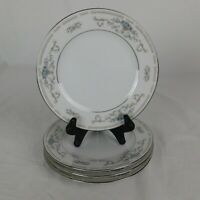 Set Of 4 Diane By Wade Fine Porcelain China Of Japan Bread Butter Plates Blue