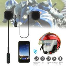 Motorcycle Helmet Headset Mic Microphone Speaker Bluetooth Intercom Handsfree US