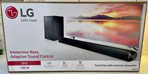 LG SH2 100W Sound Bar with External Subwoofer RRP £180, Barely Used VGC