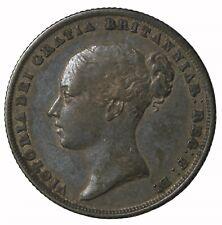 1839 Raised W.W. Great Britain Silver Shilling Queen Victoria Coin KM#734.1