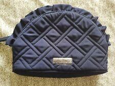 Vera Bradley Ruffle Cosmetic Bag Solid Classic Navy NWOT