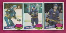 1980-81 OPC  SABRES MARTIN + SAVARD + SCHOENFELD EX-MT CARD (INV# A4078)
