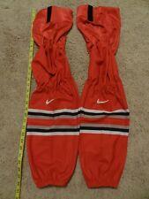 New Nike Swift Ice Hockey Socks Long Size Red Pro Stock Ohio State NCAA Bauer