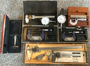 used machinist tools lot. Dial Calipers. Micrometers, Misc Measurement Tools