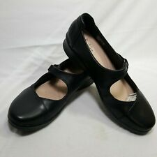 Clarks Collection Womens Mary Jane Hope Henley Flat Size 10 M Black Leather