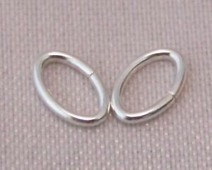7 x 5mm 925 STERLING SILVER OVAL OPEN JUMP RING U.K. MADE QUALITY SILVER 3-6