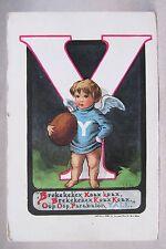 circa 1910 YALE CHERUB football postcard