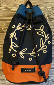 NEW 2004 Athens GREECE Olympics OFFICIAL BACKPACK Plastic Sport Gym Travel Bag