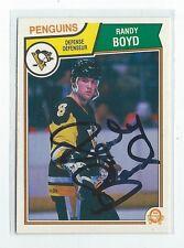 Randy Boyd Signed 1983/84 O-Pee-Chee Card #283