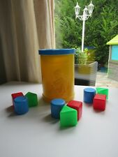 🎀 Ancienne Boite A Cube Fisher Price Vintage Année 1977 Vintage