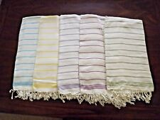 Turkish Light Weight 100 % Cotton Towel Peshtemal Hand Loomed Beach Bath Towel