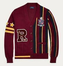 New Mens Polo Ralph Lauren The Polo Crest Cardigan XXL Sweater R Patch
