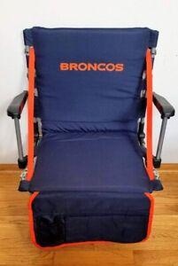 NFL Denver Broncos STADIUM SEAT CUSHION w/ Strap & Handle. Game Day Bleacher Pad