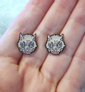 Anime Inosuke Earrings Mask~Hypoallergenic Stud