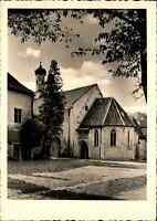 Kirchen Motiv-Postkarte Kirche Abtei in Seligenthal in Landshut ungelaufen ~1950
