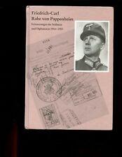 FRIEDRICH CARL RABE VON PAPPENHEIM- memoirs 1914-55 HB German text VG