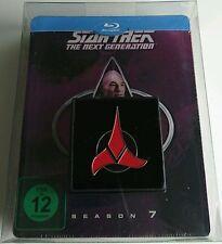 Star Trek Next Generation Season 7 Blu-Ray Dt. Steelbook Neu OVP Lit. Edit. Pin