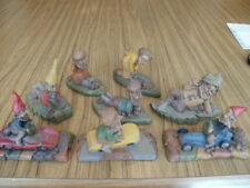 Lot of 8 Tom Clark Gnomes, Ed,Diamond Gym,Jane,Slim,Jeff,Monty, Speedy,Indy