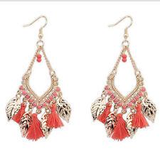 Dangle Drop Stud Hoop Hook Earrings Womens Hippy Boho Bohemian BeadsTassel Long