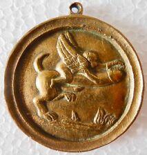 TRÈS ANCIENNE Médaille PENDENTIF - ÉROTIQUE - Scène Libertine   Curiosia -N° 3
