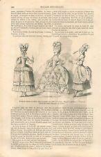 Galerie des Modes Caraco Robe Polonaise Falbalas Ruban étoffe Jupon GRAVURE 1867