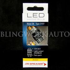 (PAIR) JW Speaker LED PY27/7W 3157 BRIGHT AMBER Bulb for Indicator Turn Signal