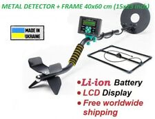 """Metal detector pulse Lcd display search depth up to 2-3m + deep frame (15""""x23"""")"""
