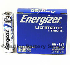 4 Energizer AA Ultimate Lithium Batteries (L91, FR6, LR6, 15-LF, FR14505)