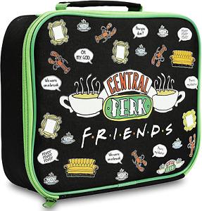 Zak Friends Central Perk Insulated Zipped Lunch Bag/Box Black/Green BNWT