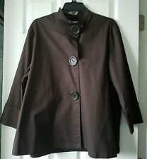 Coldwater Creek Jacket Top Size PXL Cotton Brown
