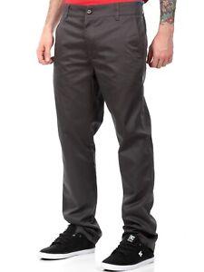 Metal Mulisha Mens Nine To Five Chino Pants Size 28 Charcoal
