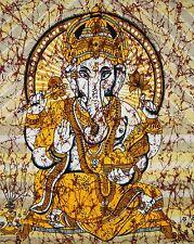 Twin Indian Lord Ganesh Batik Tapestry Hippie Bohemian Wall Hanging BedspreadArt