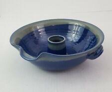 Tumbleweed Pottery Cobalt Blue Chicken Cooker Roaster Ceramic Bowl 12