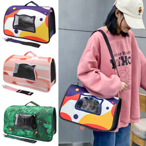 Dog Cat Carriers Breathable for Small Dogs Travel Sling Shoulder Bags Purse Tote