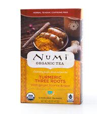 Numi - Turmeric Three Roots - Organic Herbal Tea - 12 Tea Bags