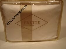 Frette Bicolore EURO SHAM WHITE BIRCH DOUBLE HEMSTITCH NEW $210