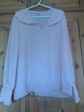 Next Pink Ruffle blouse  Size 18.