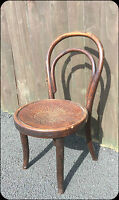 Original Vintage Thonet Old Childs Seat Chair in wood Vintage Antique Rare