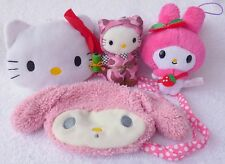 Official Sanrio Hello Kitty & My Melody Pouches/Soft Plush Toys Japan Bundle/Lot