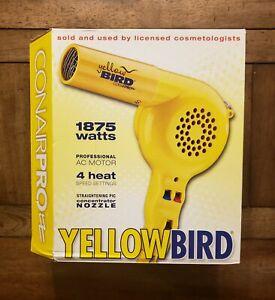 Conair Pro Yellow Bird Hair Dryer (Model: YB075W) New in Box!