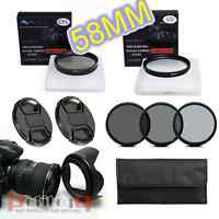 58mm UV CPL Flower Hood Cap ND Filter Set FOR nikon canon sony olympus sigma UK