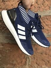 Men's Adidas Ultra Boost Navy Blue Suede Size UK 10.5 EUR 45.5