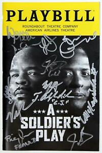 Cast Blair Underwood Signed A SOLDIER'S PLAY Opening Night Playbill