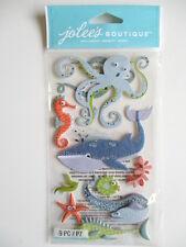 Jolee'S BOUTIQUE Pegatinas 3D-animales Del Océano-Ballena Pulpo Anguila Caballito De Mar Peces