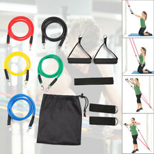 11 Pcs Resistance Bands Fitness Set Workout Exercise with Handles Home Gym Tubes